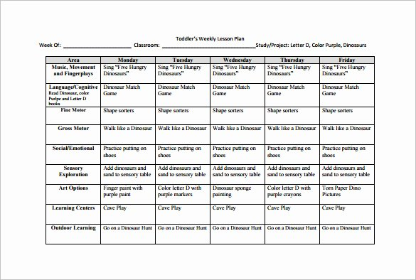 Daily Lesson Plan Template Word New Weekly Lesson Plan Template 10 Free Word Excel Pdf