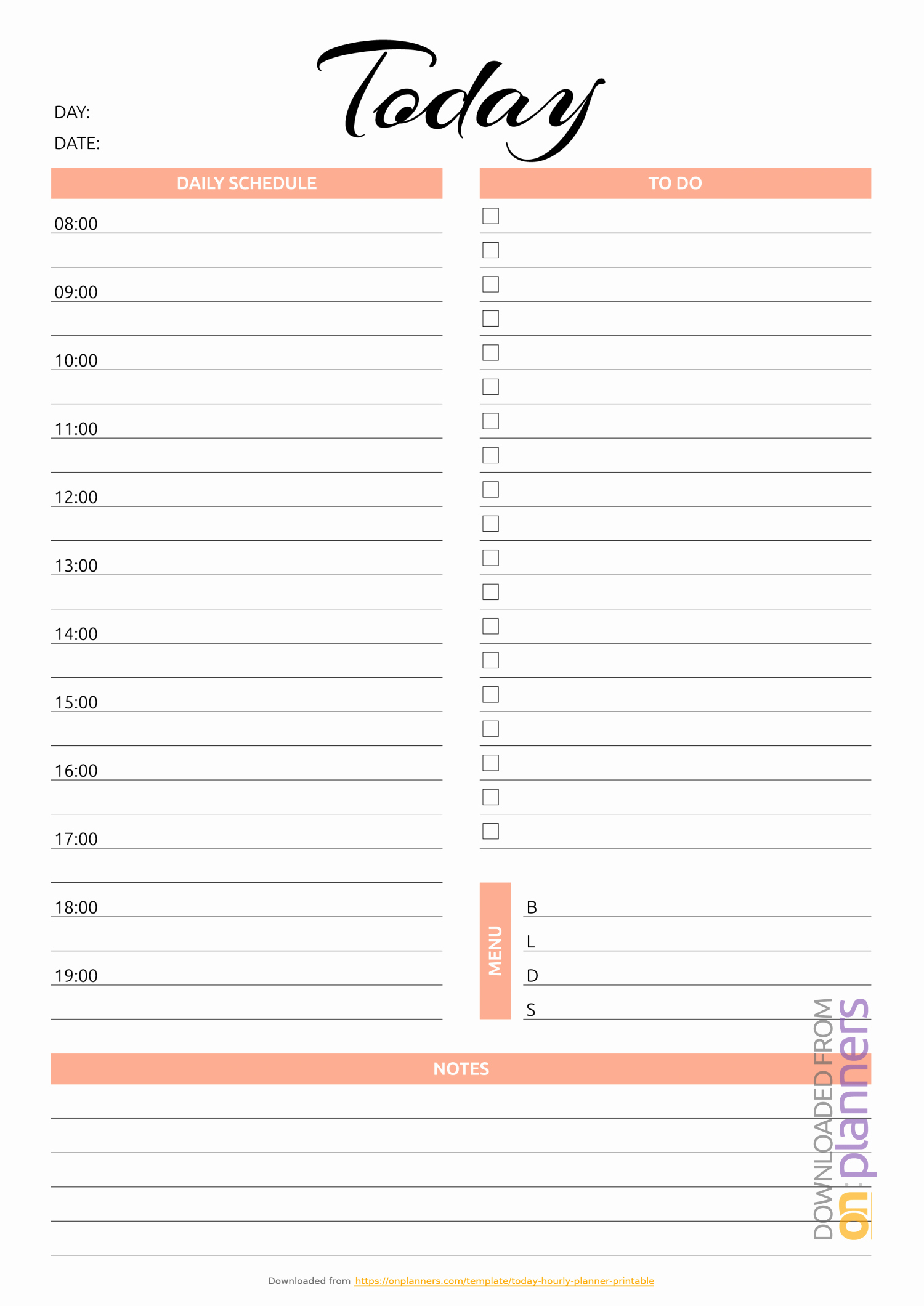 Daily Planner Printable Template Elegant Daily Planner Templates Printable