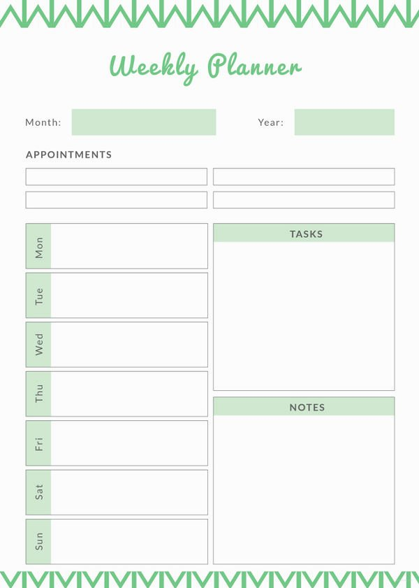 Daily Planner Printable Template New Weekly Meal Planner Template 9 Free Pdf Word Documents