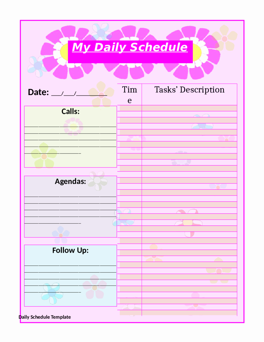 Daily Planner Printable Template Unique 10 Free Printable Daily Planner Templates