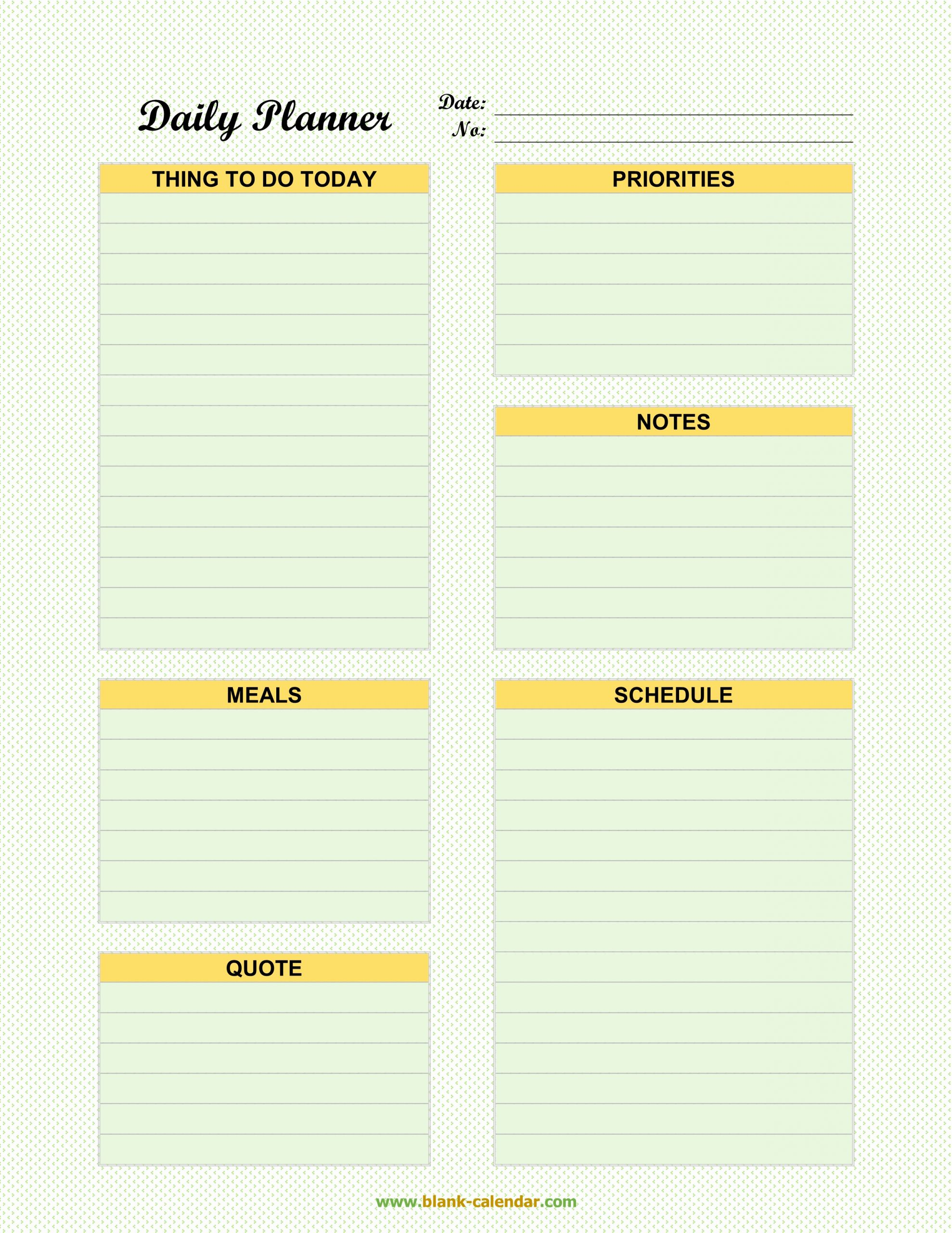 Daily Schedule Planner Template Awesome Daily Planner Templates Word Excel Pdf