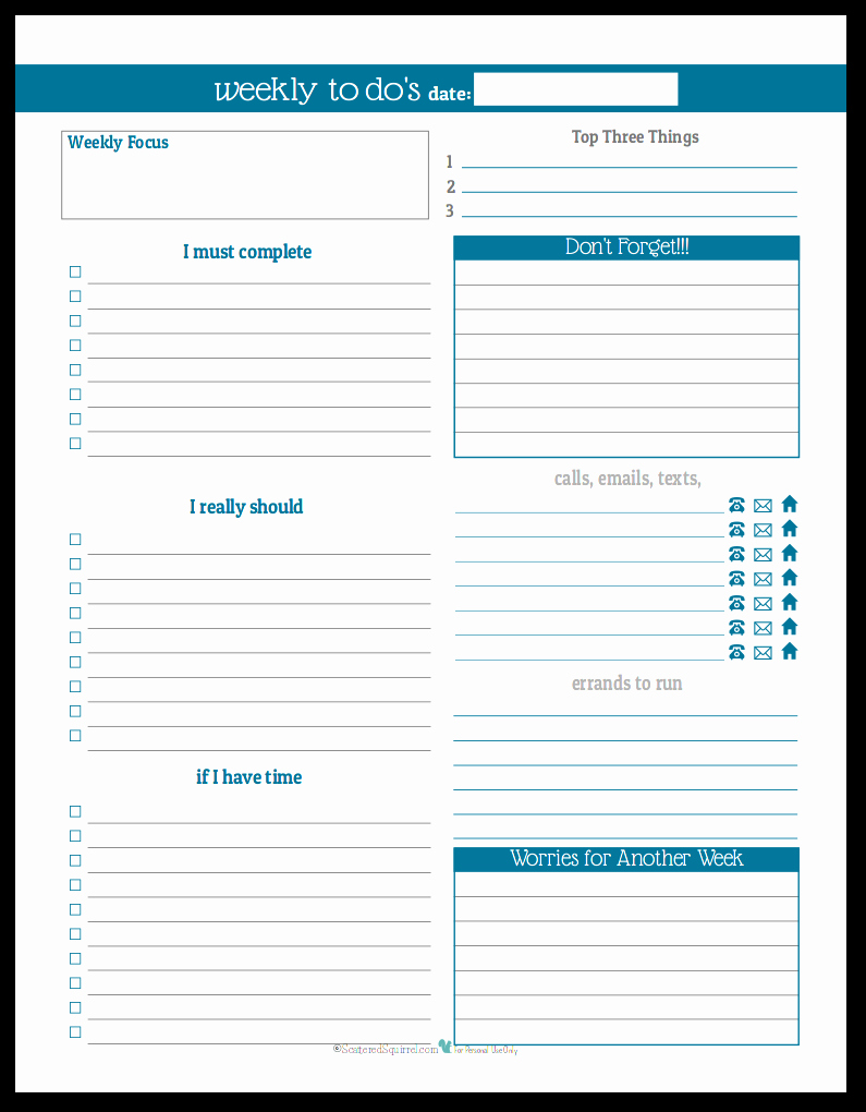 Daily Schedule Planner Template Best Of Weekly Planner Printables Personal Planner