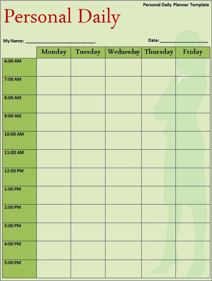 Daily Schedule Planner Template Fresh Daily Planner Template