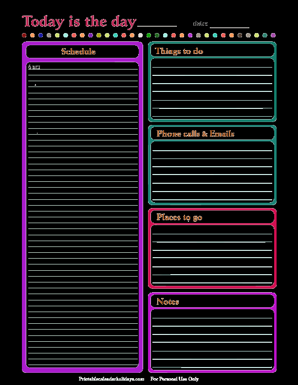 Daily Schedule Template Free New Daily Calendar Template
