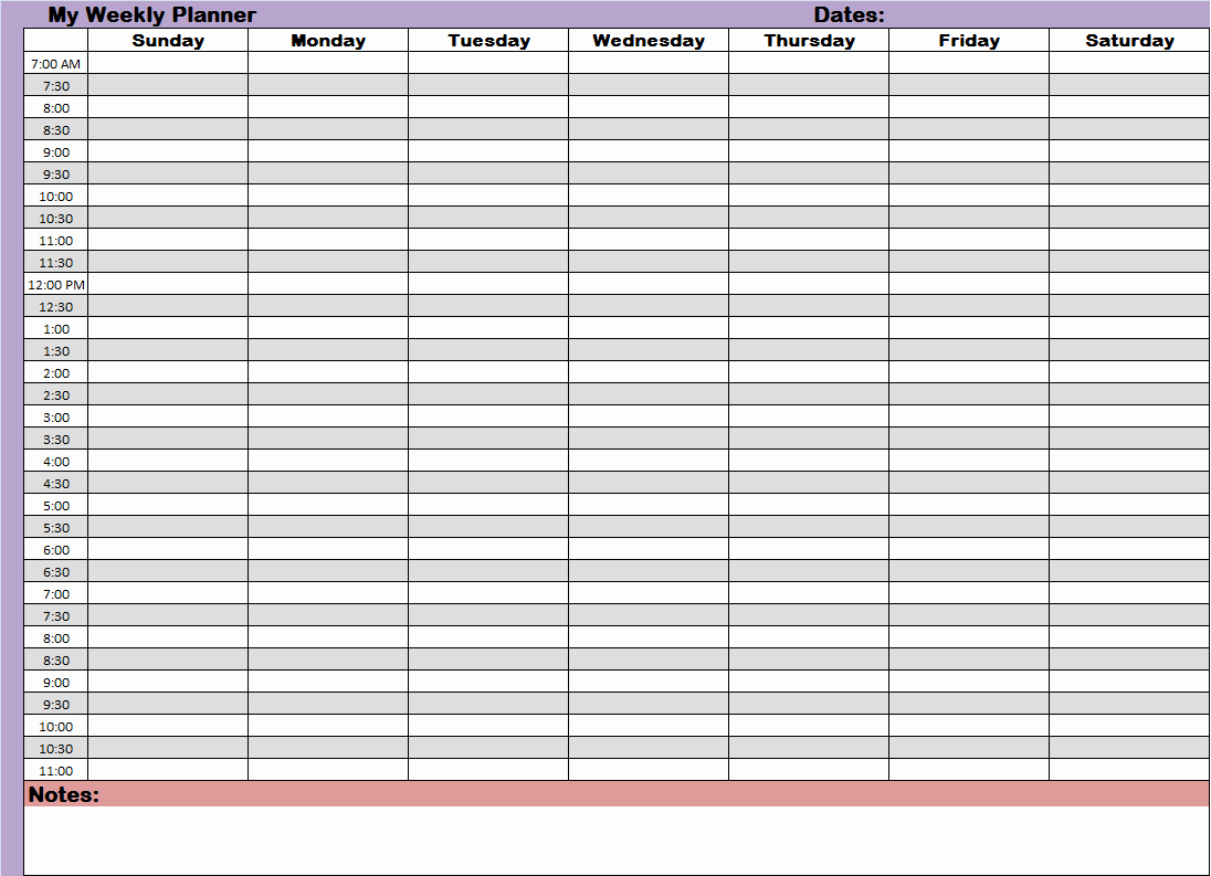 Daily Time Schedule Template Best Of Weekly Hourly Time Management Sheet