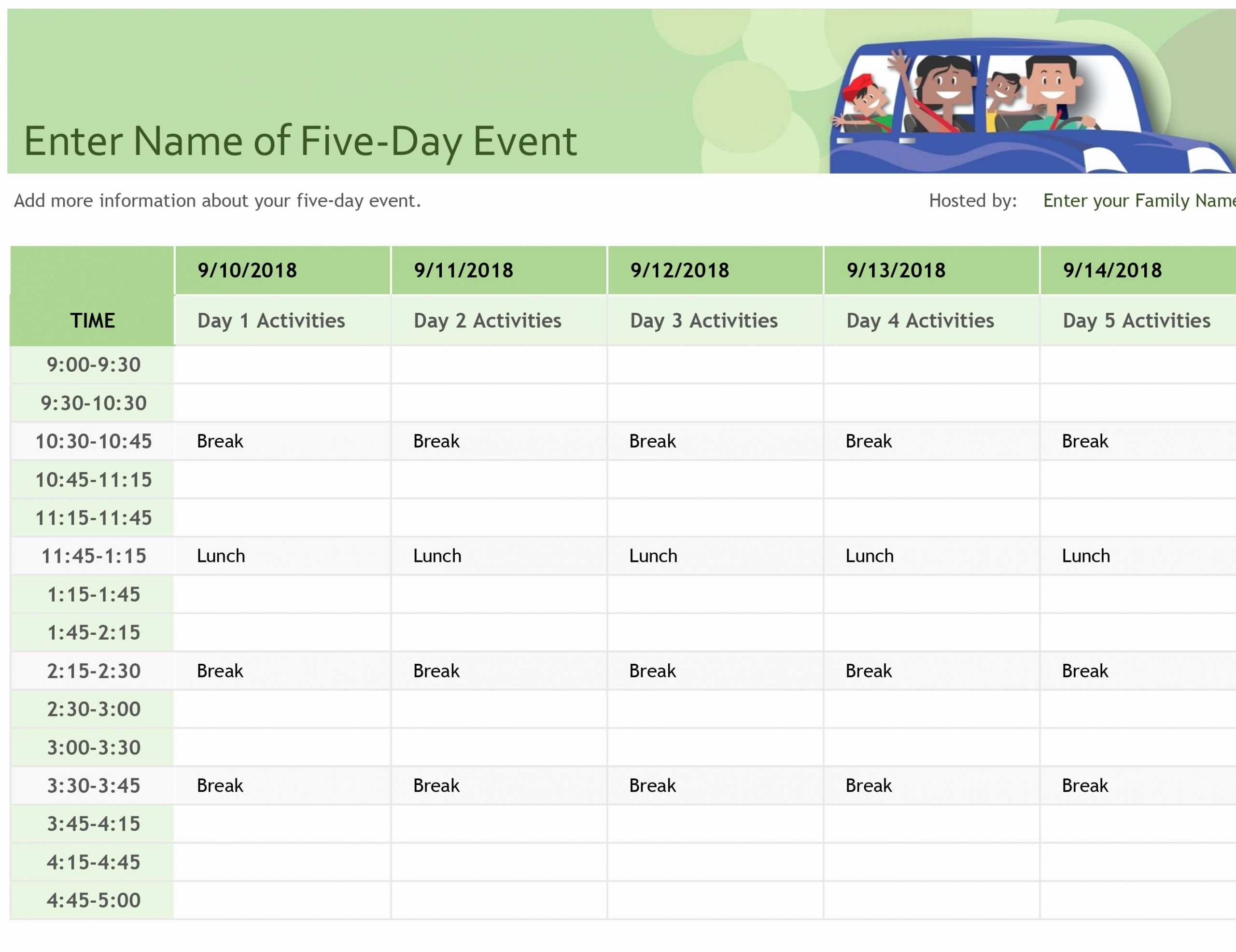 Daily Time Schedule Template Luxury Schedules Fice