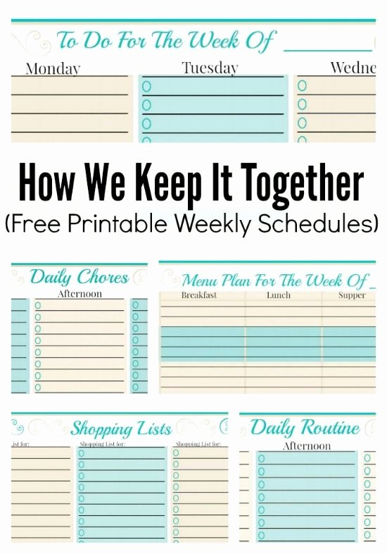 Daily Work Planner Template Luxury How We Keep It to Her and Free Weekly Planner Templates