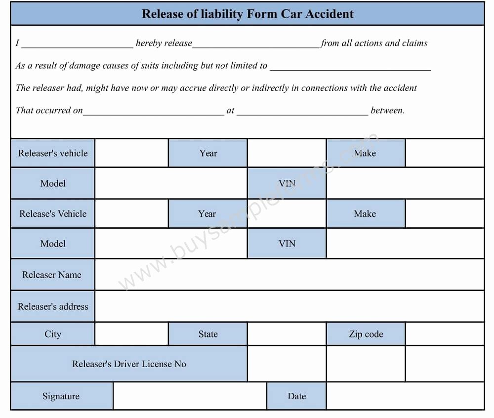Damage Waiver form Template Lovely Download Car Accident Waiver and Release Of Liability form