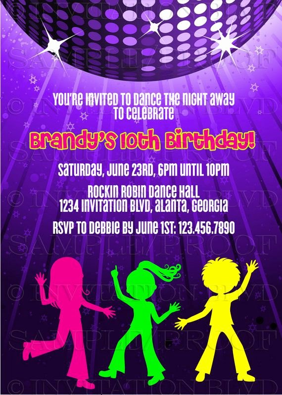 Dance Party Invitation Template Beautiful Dance Party Invitation Hip Hop Dance Party by