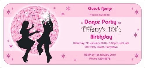 Dance Party Invitation Template Beautiful Disco Dance Invitations by