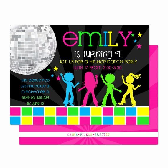Dance Party Invitation Template Elegant Disco Invitations Dance Party Disco Party Invitations