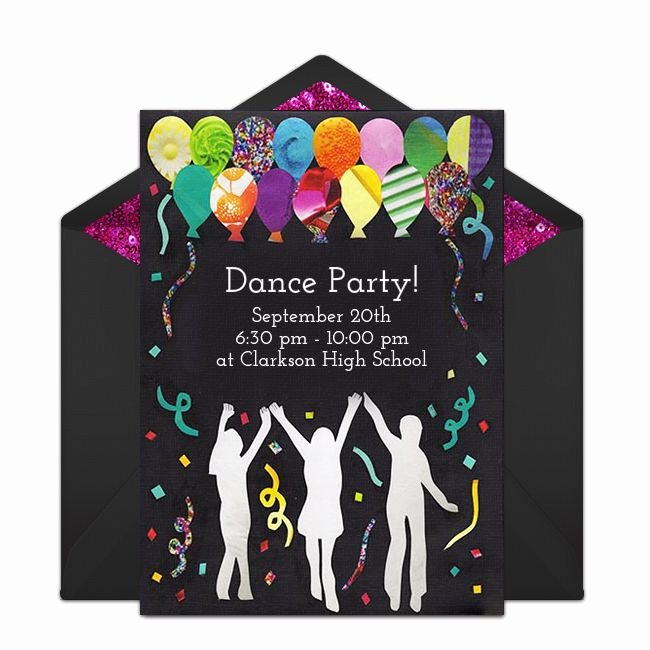 Dance Party Invitation Template Elegant Free Dance Party Invitations