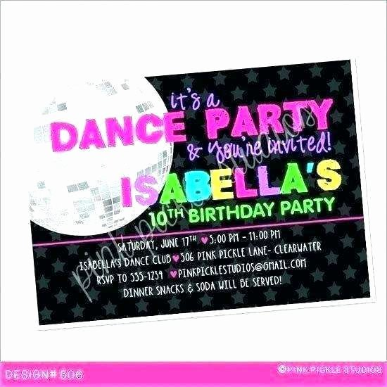 Dance Party Invitation Template Luxury Dance Party Invitation Template Cards Design Templates