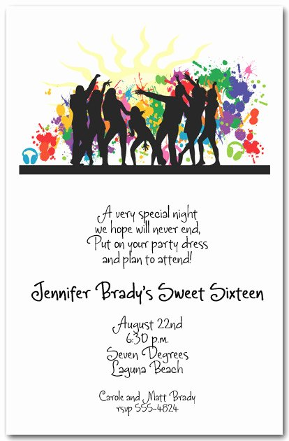 Dance Party Invitation Template New Silhouette Dance Party Invitations