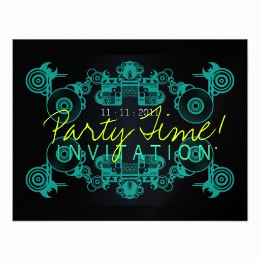 Dance Party Invitation Template Unique Party Time Dance Invitation Template 11 Cm X 14 Cm