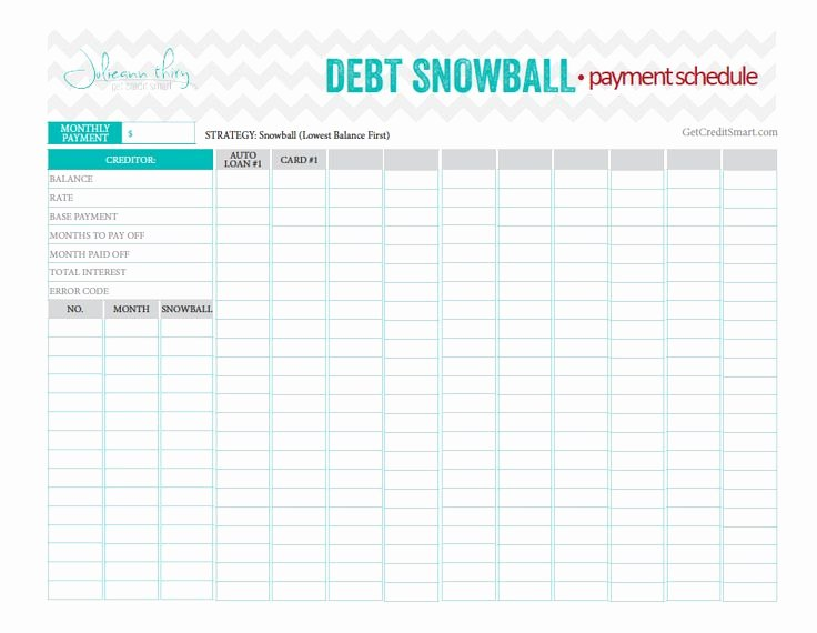 Debt Payment Plan Template Lovely Debt Snowball Payment Schedule Beautiful and Perfect
