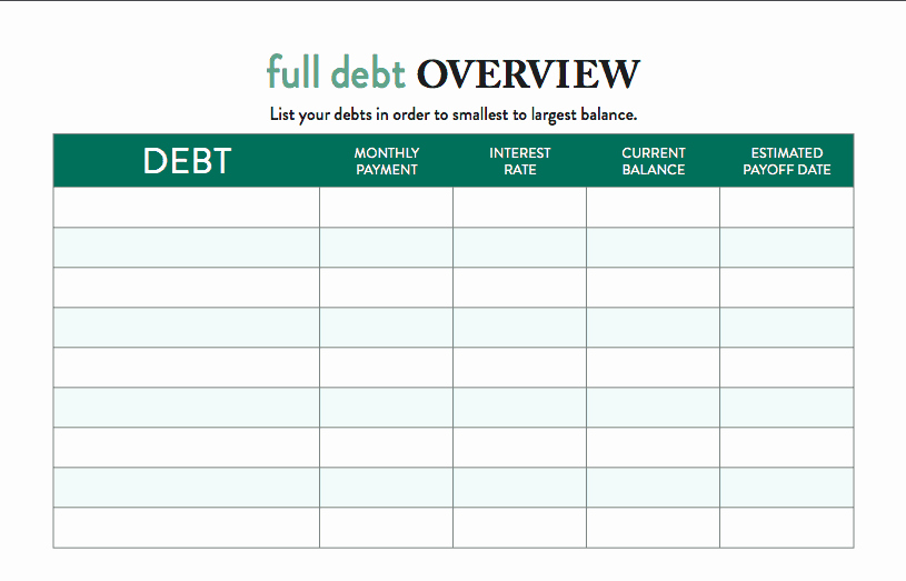 Debt Payment Plan Template Unique Free Template How to Use A Debt Tracker to Visualize