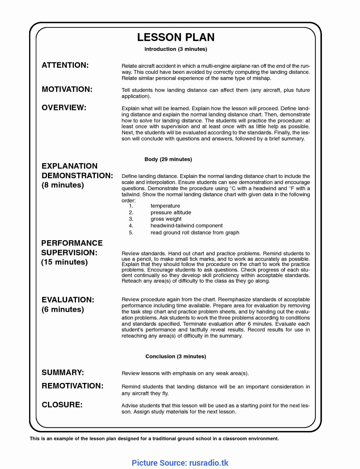 Demo Lesson Plan Template Beautiful Simple Sample Lesson Plan English Preschool Best S