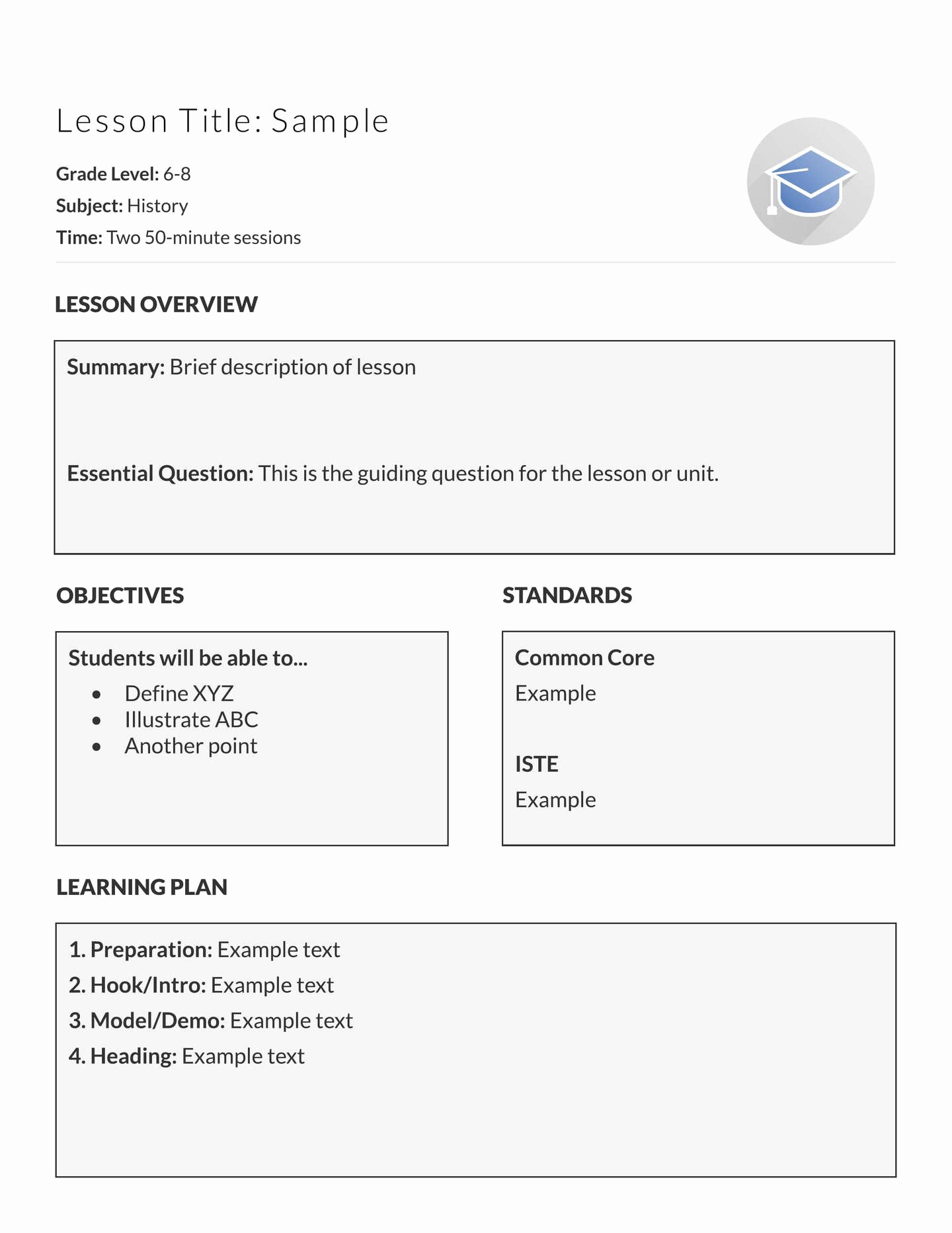 Demo Lesson Plan Template Lovely 5 Free Lesson Plan Templates & Examples Lucidpress