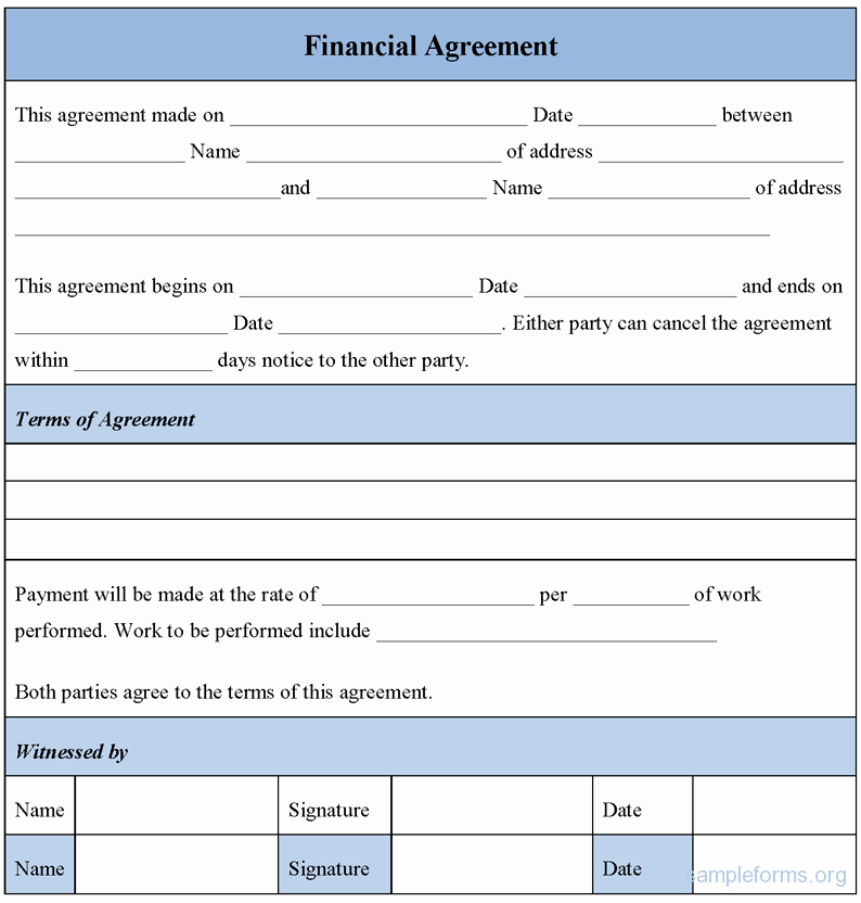 Dental Payment Plan Agreement Template Best Of Financial Agreement Template
