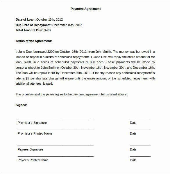 Dental Payment Plan Agreement Template New 29 Of Medical Payment Arrangement Template