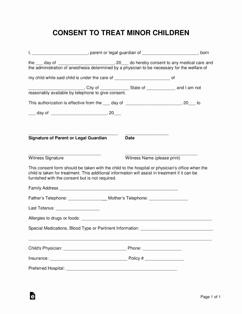 Dental Treatment Consent form Template Awesome Free Medical Release form for