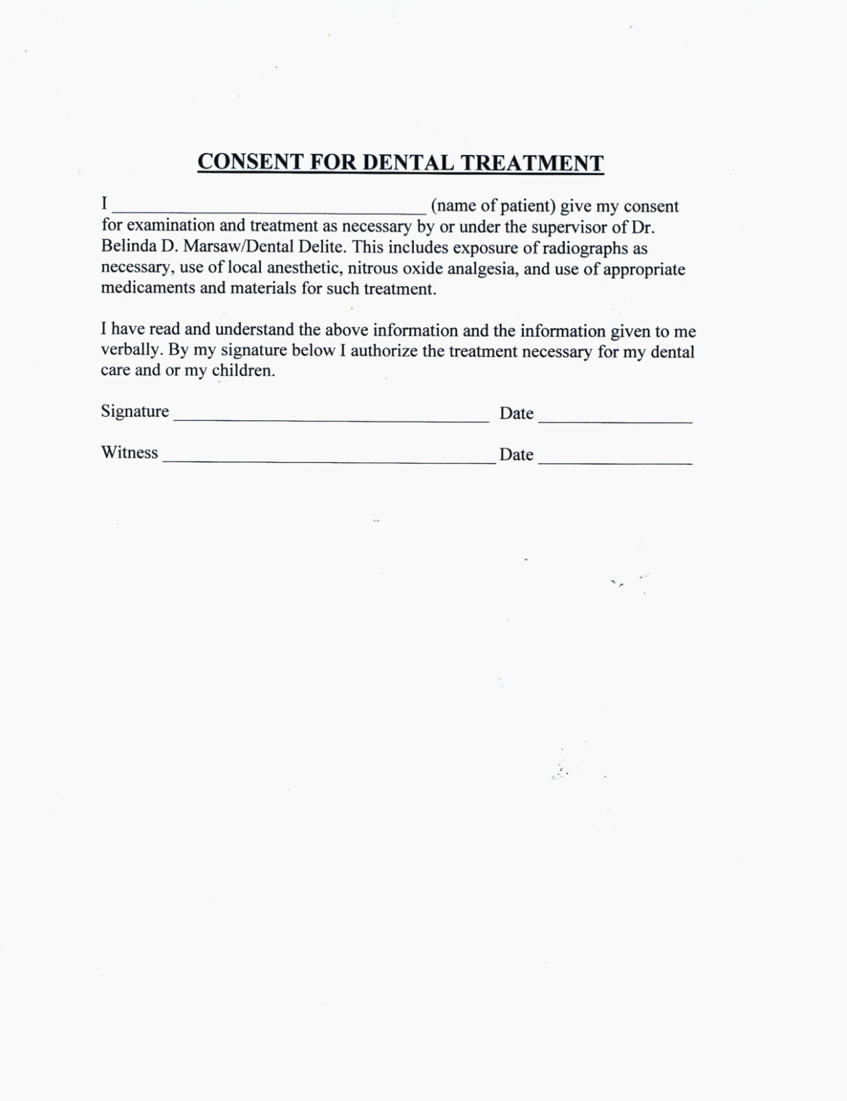 Dental Treatment Consent form Template Elegant Seven Small but Important