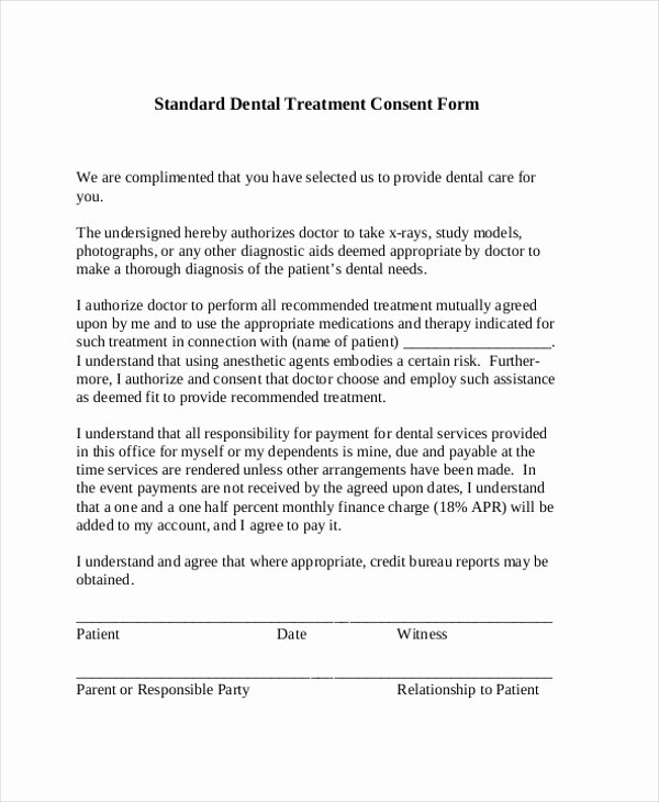 Dental Treatment Consent form Template Luxury 21 Of Dental X Ray Refusal form Template