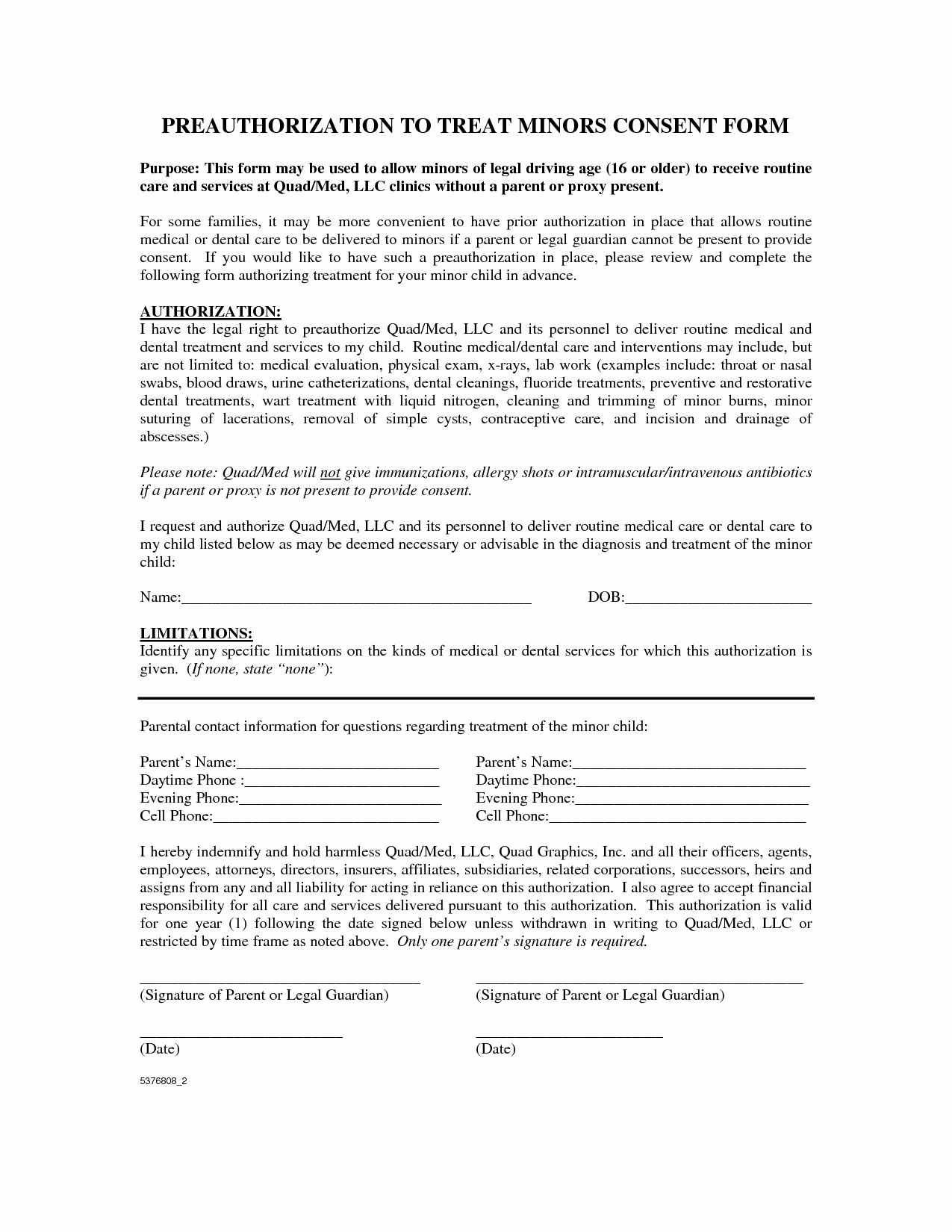 Dental Treatment Consent form Template Luxury Best S Of Printable Counseling Consent forms