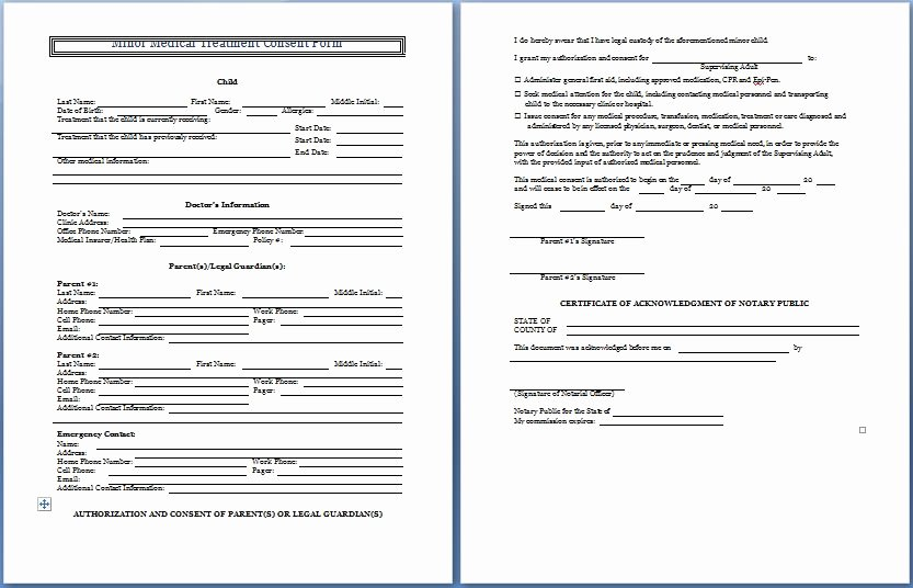 Dental Treatment Consent form Template New Sample Medical Consent form