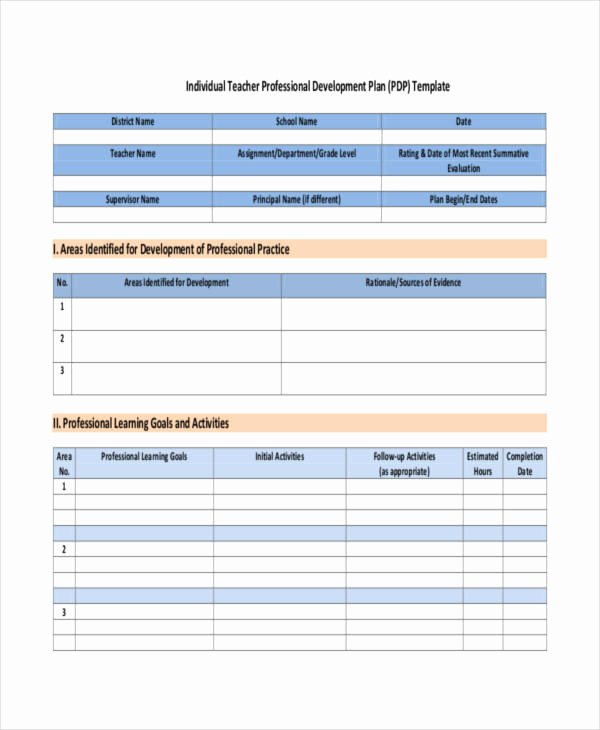 Development Plan Template Word Unique 39 Development Plan Samples Pdf Word