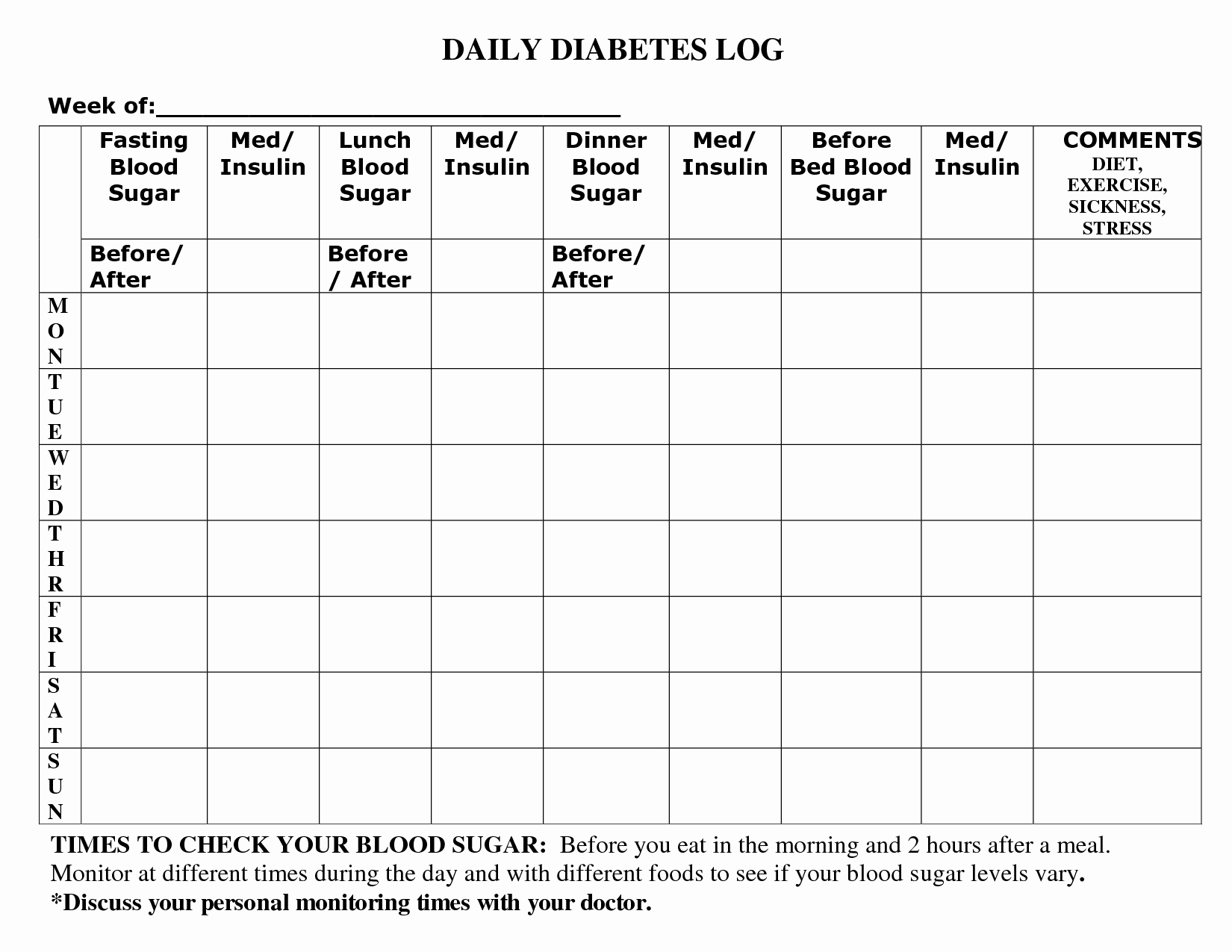 Diabetes Meal Plan Template Unique Printable Diabetic Food Log Sheets In 2019