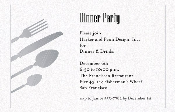 Dinner Invitation Email Template Awesome 45 Invitation formats Psd Ai