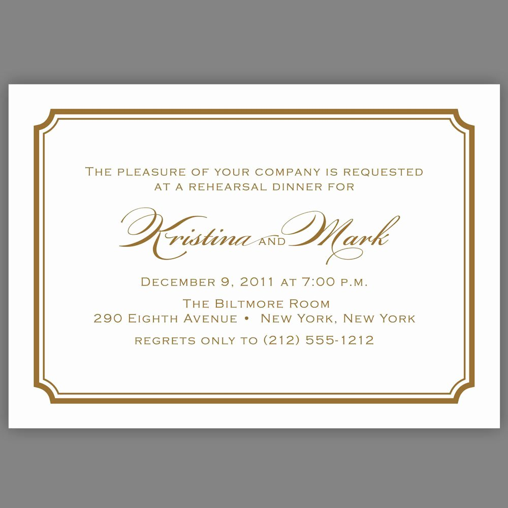 Dinner Invitation Email Template Elegant formal Dinner Invitation Wording