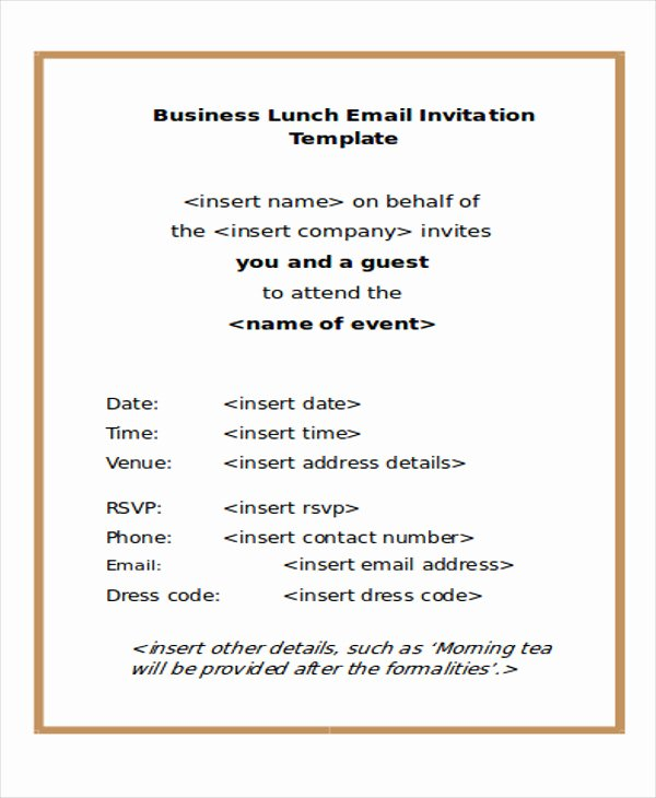 Dinner Invitation Email Template Luxury 9 Business E Mail Invitation Templates Word Pdf Psd