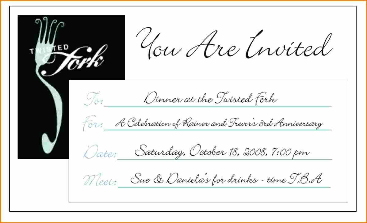 Dinner Invitation Email Template Luxury Dinner Invitation Email