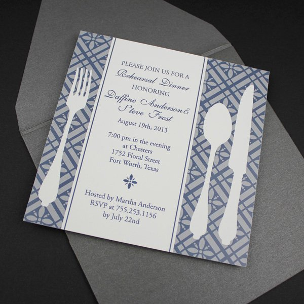 Dinner Invitation Template Free Awesome Invitation Template – Square Rehearsal Dinner Invitation
