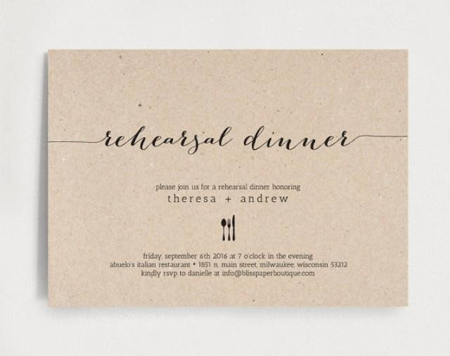 Dinner Invitation Template Free Beautiful Rehearsal Dinner Invitation Wedding Rehearsal Editable