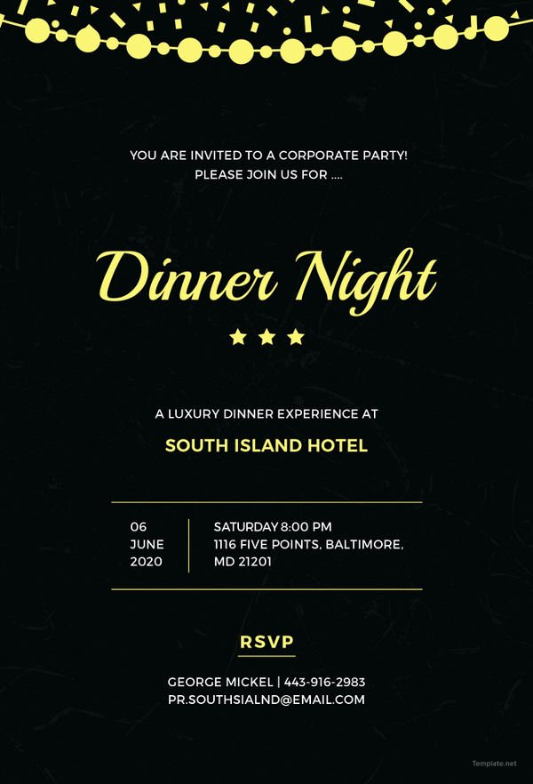 Dinner Invitation Template Free Best Of 47 Dinner Invitation Templates Psd Ai