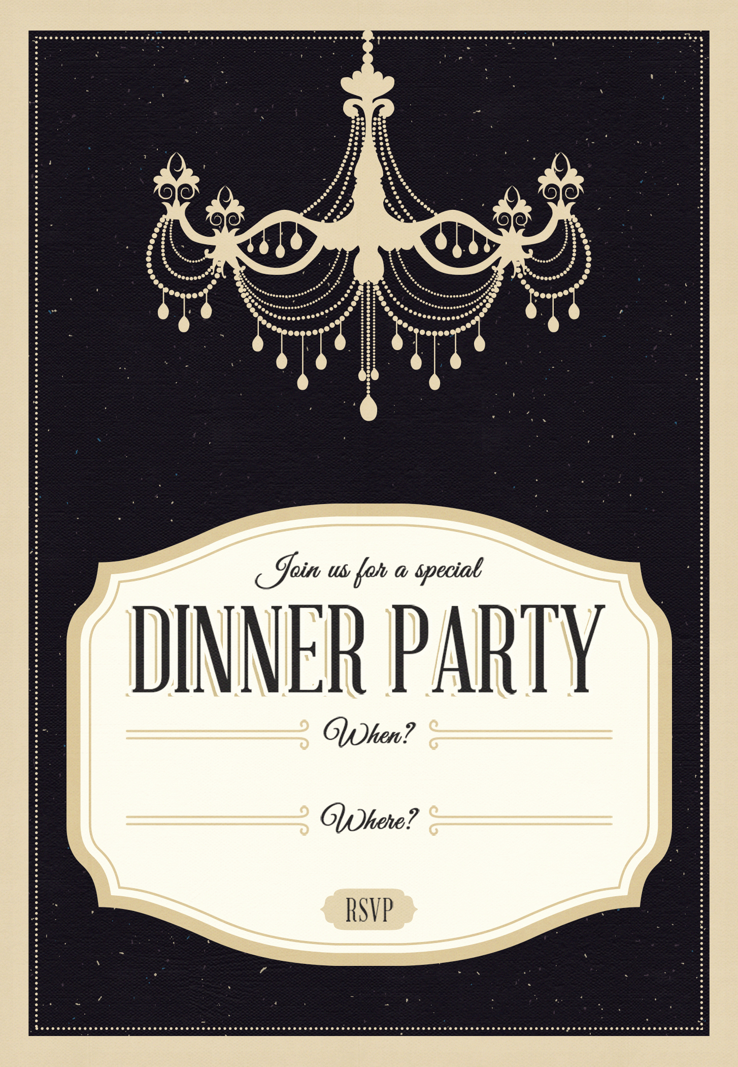 Dinner Invitation Template Free Best Of Classy Chandelier Free Printable Dinner Party Invitation