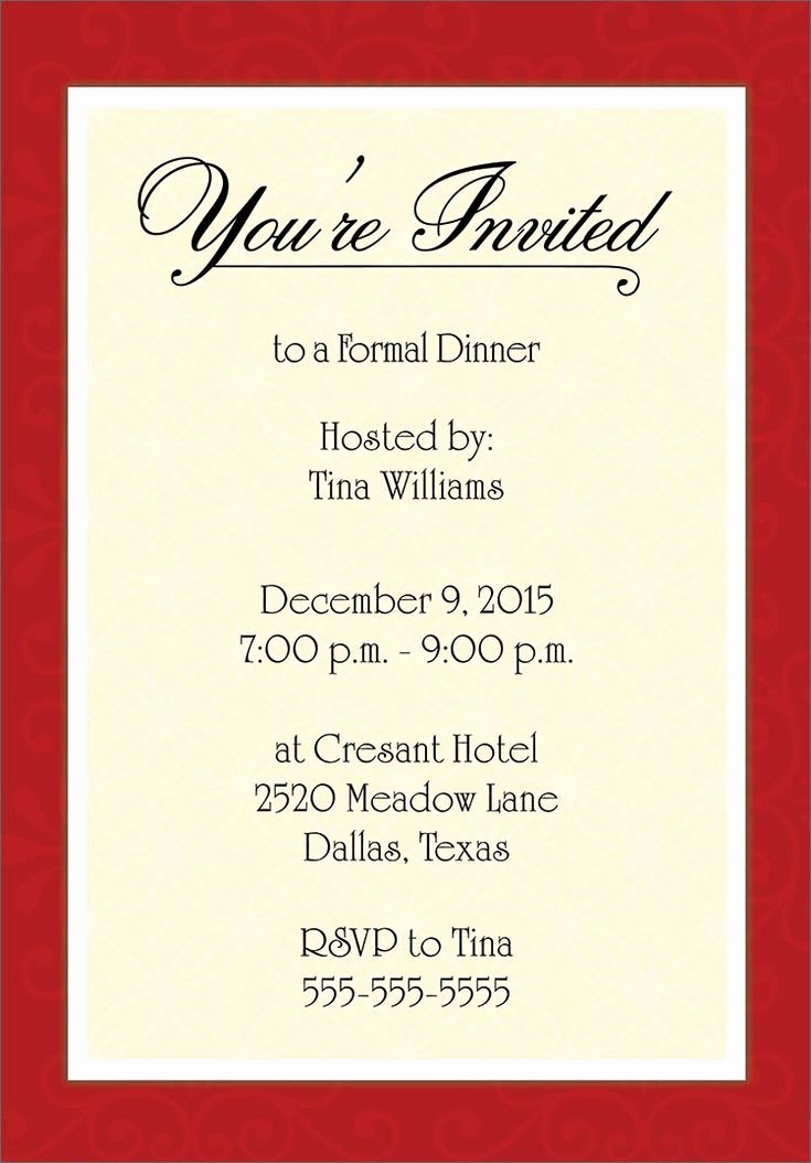 Dinner Invitation Template Free Best Of Dinner Invitation Template Free