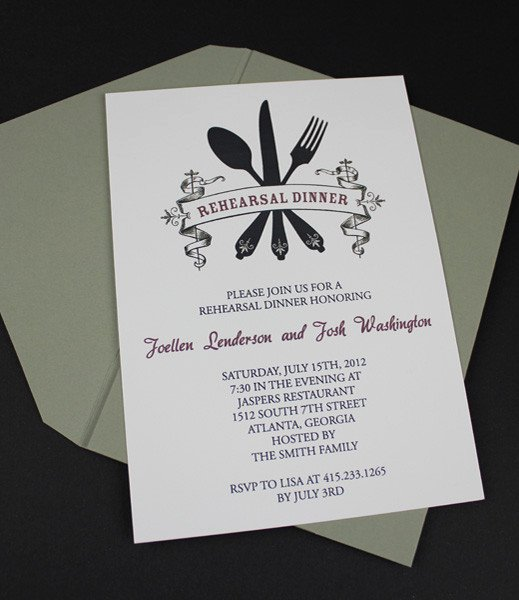 Dinner Invitation Template Free Elegant Invitation Template – Casual Rehearsal Dinner – Download