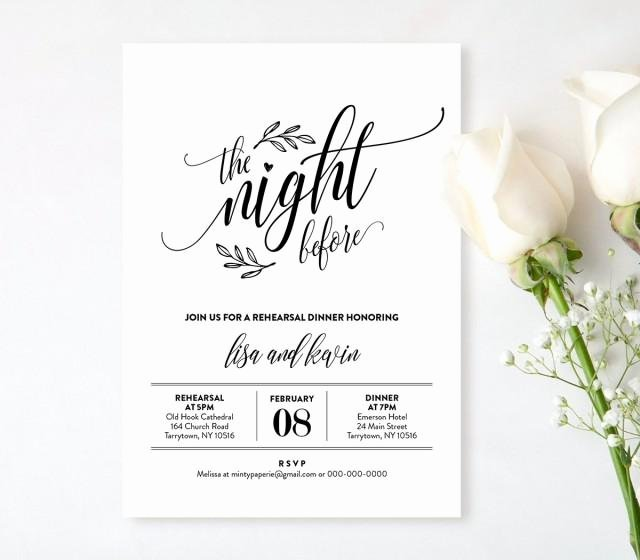 Dinner Invitation Template Free Fresh Wedding Rehearsal Dinner Printable Diy Rehearsal