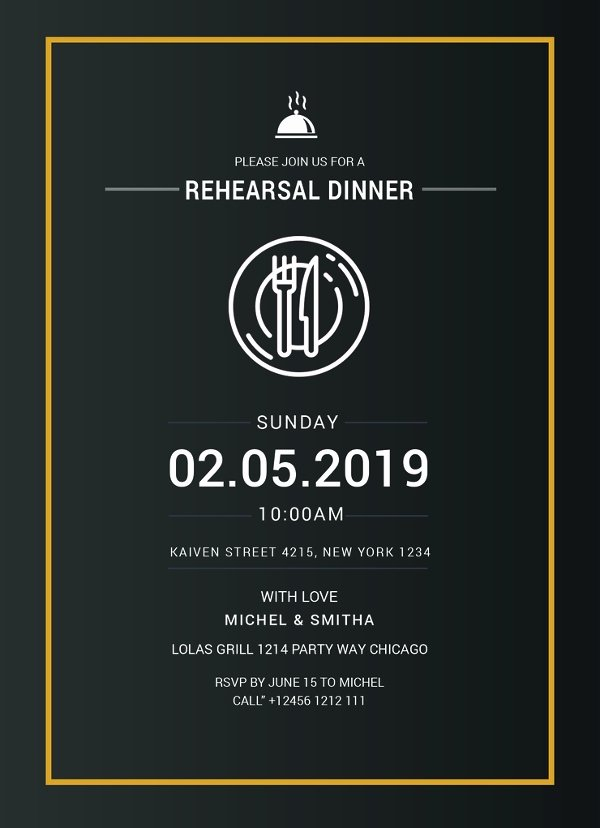 Dinner Invitation Template Free Inspirational 50 Printable Dinner Invitation Templates Psd Ai
