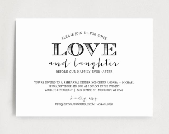 Dinner Invitation Template Free Inspirational Rehearsal Dinner Invitation Wedding Rehearsal Dinner