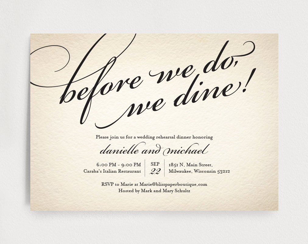 Dinner Invitation Template Free Lovely Wedding Rehearsal Dinner Invitation Editable Template before