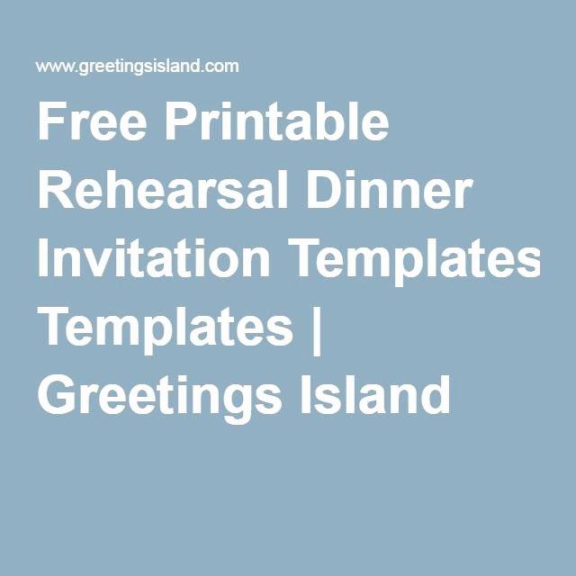 Dinner Invitation Template Free Printable Awesome Free Printable Rehearsal Dinner Invitation Templates