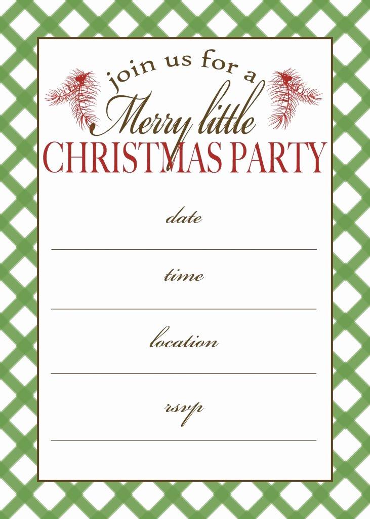 Dinner Invitation Template Free Printable Beautiful Free Printable Christmas Party Invitation