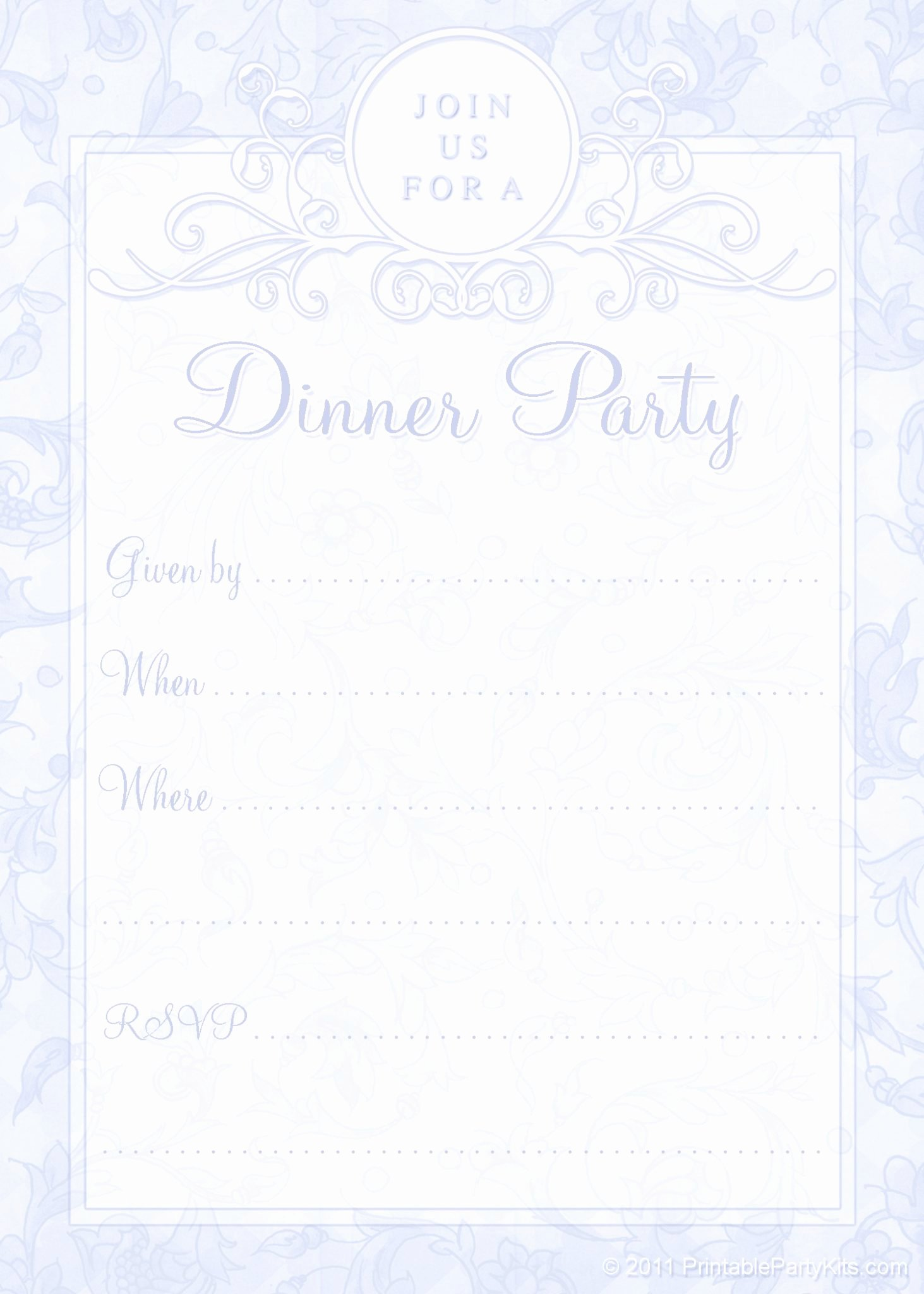 Dinner Invitation Template Free Printable Beautiful Free Printable Dinner Party Invites Printable Party Kits