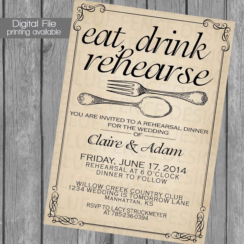 Dinner Invitation Template Free Printable Beautiful Printable Rehearsal Dinner Invitation Template Wedding
